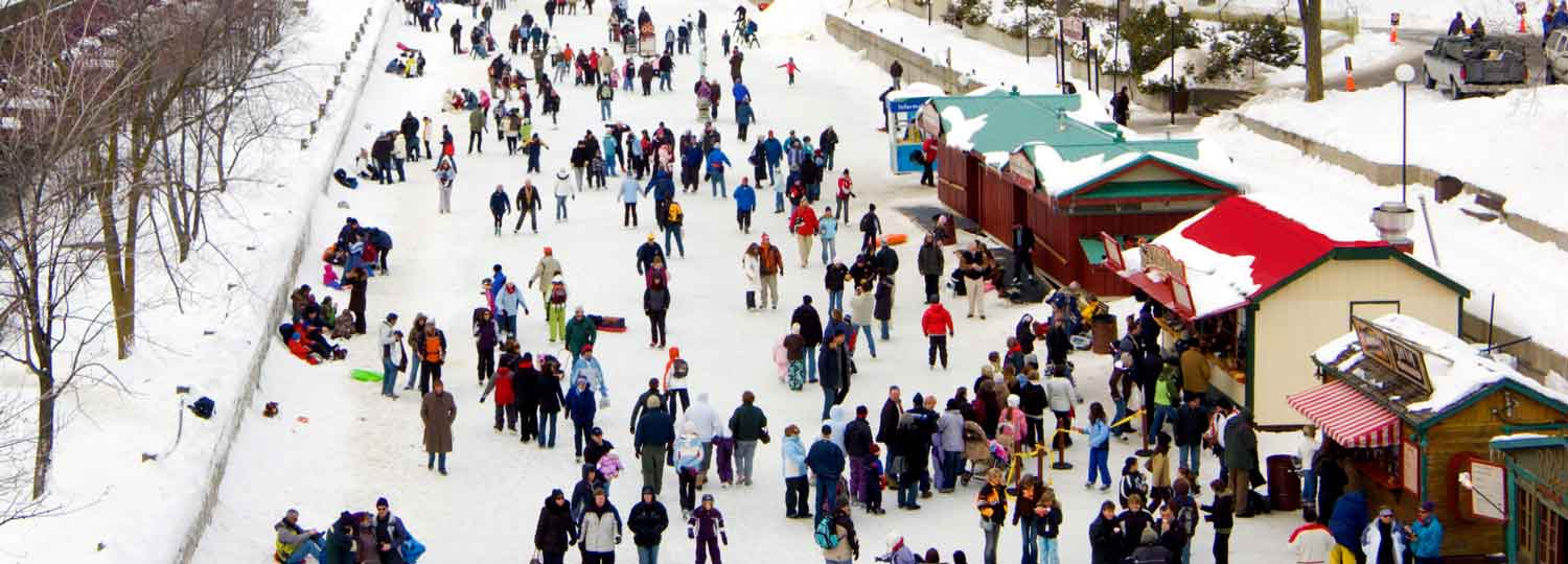 Skaters on the Rideau Canal, Ottawa.
